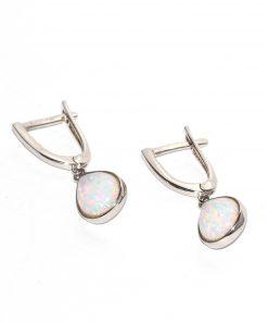 arany fülbevaló opál kővel