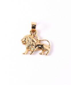 14 karátos arany oroszlán medál nyakláncokhoz