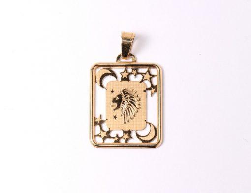 arany horoszkóp oroszlán medál nagy méret