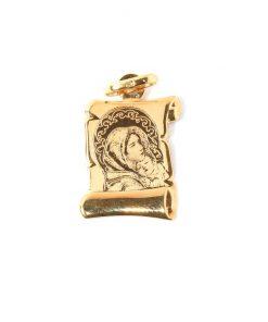 Arany Szűz Mária kis Jézus Medál