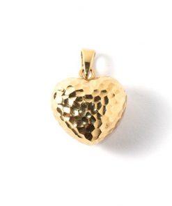14 karátos szív medál aranyból