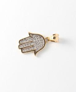arany fatima keze medál nyaklánchoz cirkón kövekkel
