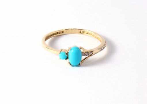 arany női gyűrű kék kővel
