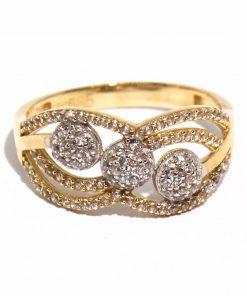 vastag arany női gyűrű köves