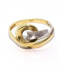 vastag arany női gyűrű csavart