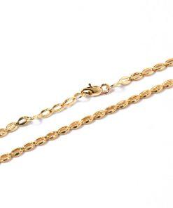 14 karátos arany bokalánc
