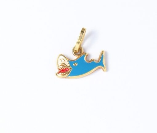 arany cápa medál nyakláncokhoz gyerekeknek