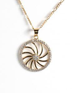 arany kör alakú medál nyakláncokhoz cirkón kövekkel