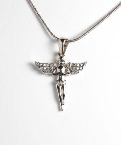 fehérarany angyal angyalka medál cirkón kövekkel nyaklánchoz