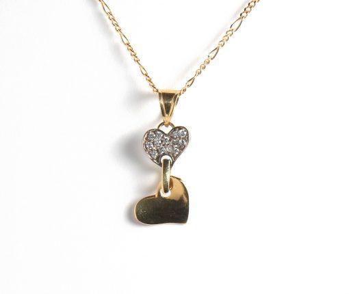 logós arany szív medál