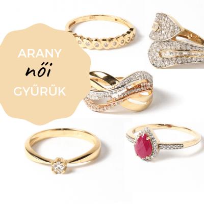 arany női gyűrűk