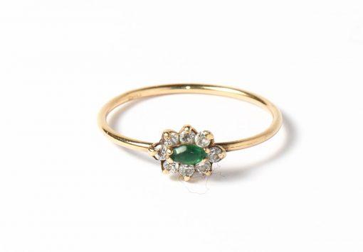 arany zöld köves gyűrű
