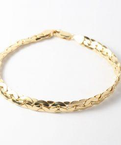 14 karátos arany női karkötő vastag