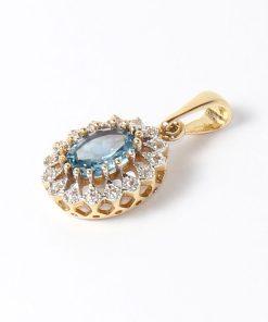 arany kék köves medál