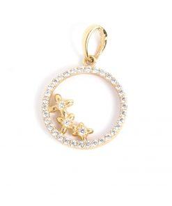 arany kör alakú virág medál