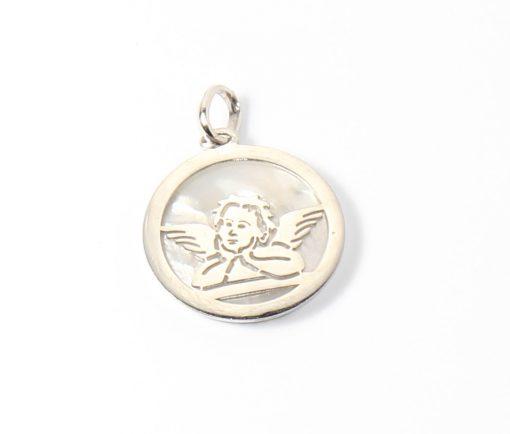 angyal angyalka medál fehérarany gyöngygház