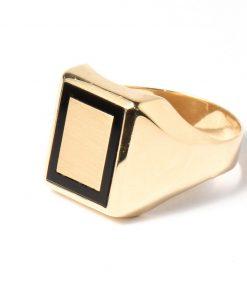 14 karátos arany férfi gyűrű pecsétgyűrű